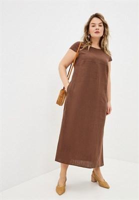 5169-64 платье из льна - фото 5522
