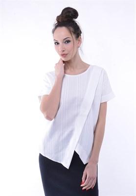 4508 блузка белая на запах - фото 5525