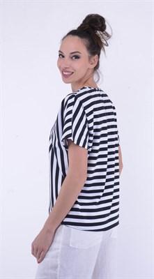 4511 Блуза трикотажная в полоску - фото 5604