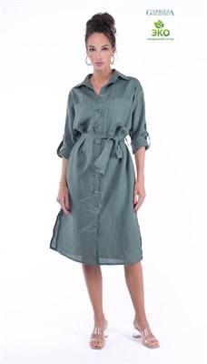 5366-12 Платье рубашка льняная - фото 5613