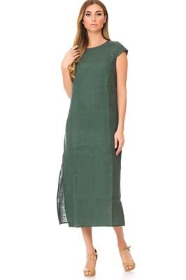 5169-12 Льняное платье женское - фото 5872