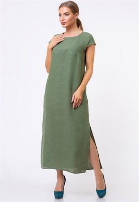 5169-18 Льняное платье женское - фото 5875