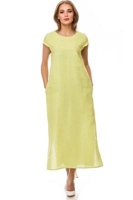 5169-21 Платье льняное макси женское - фото 5878