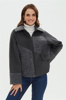 Пальто женское 522/T MUAR Cерый - фото 6043