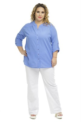 1098/Сирень блуза - фото 6163