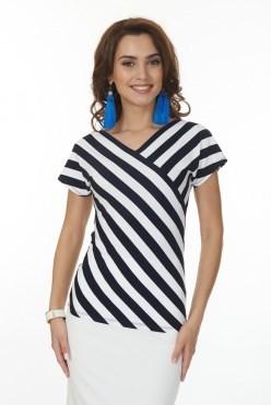 ALBT6039/сине-белый блузка - фото 6343