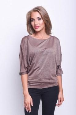 ALBT8029/коричневый блузка - фото 6351