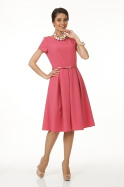 ALDS5037/розовый Платье с ремнем жен. - фото 6382