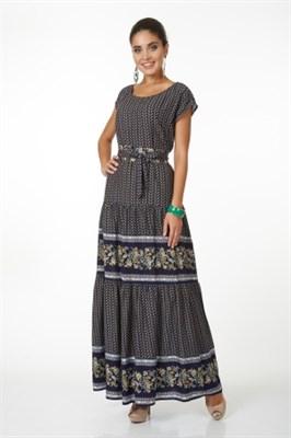 ALDS5056/синий платье с яп.поясом - фото 6388