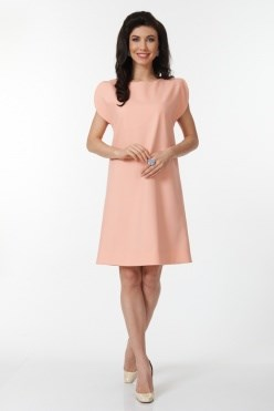 ALDS6025/персиковый платье - фото 6392