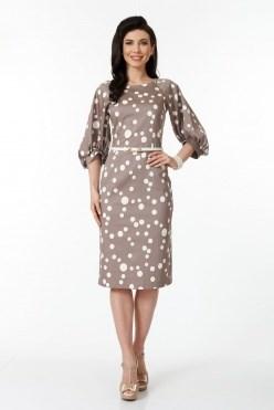 ALDS6035/капучино/белый платье - фото 6394