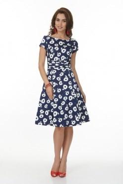 ALDS6037/синий/белый платье - фото 6396