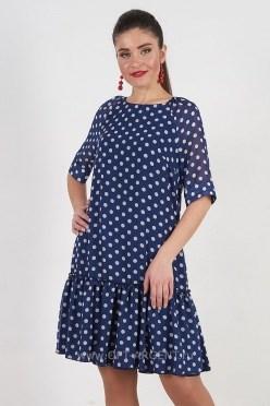ALDS7032/синий платье - фото 6398