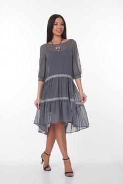 ALDS7046-1/серый платье - фото 6402