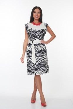 ALDS7058/молочно-черный платье - фото 6406