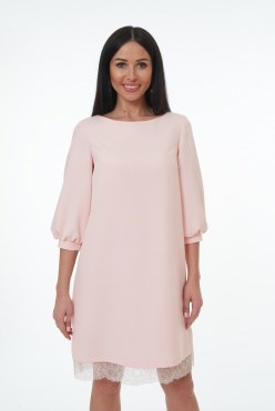 ALDS8014/розовый платье - фото 6408