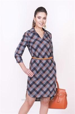 ALDS8025/т.син-оранж кл платье - фото 6418