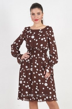 AVDS7017/коричневый платье - фото 6443