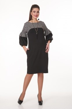 AVDT7000/серый меланж платье - фото 6446