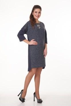 AVDT7003/синий платье - фото 6448