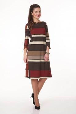 AVDT7010/коричневый платье - фото 6454