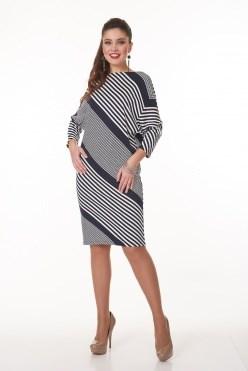 AVDT7015/синий платье - фото 6458