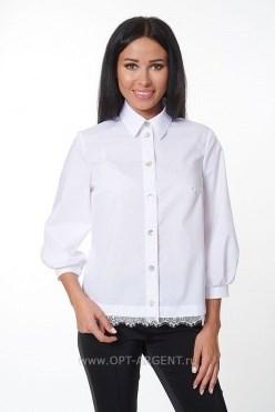 AZBS7073/белый блузка - фото 6463