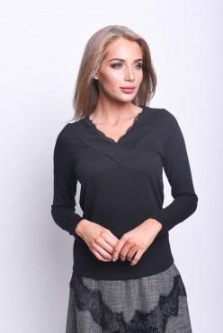 AZBT8084/черный блузка - фото 6483