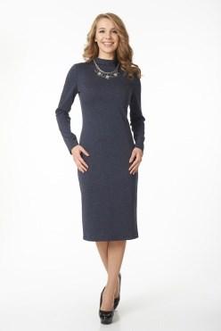 AZDT5084/серо-синий платье - фото 6518
