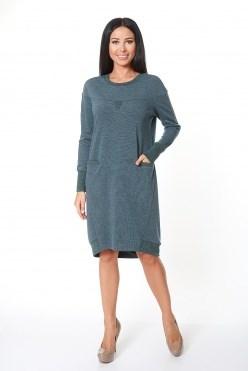AZDT7080-1/зеленый платье - фото 6522