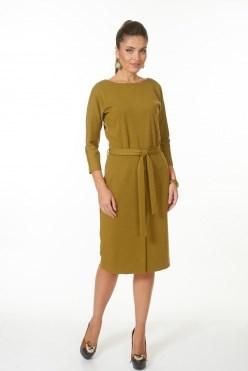 AZDT7086/оливк платье - фото 6524