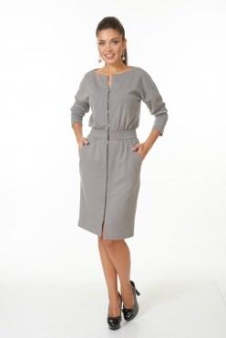 AZDT7099-1/серый платье - фото 6526