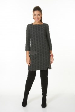 AZDT7100-1/темно-серый платье - фото 6530