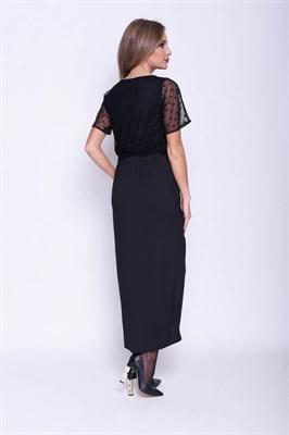 AZDT8125/черный платье - фото 6546