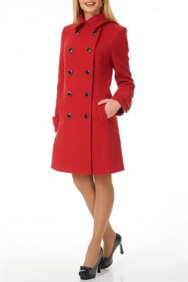 AZWS3078/красный пальто жен. - фото 6558