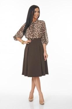 AZYS6065/коричневый юбка - фото 6572