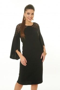 LALDT8005/черный платье - фото 6588