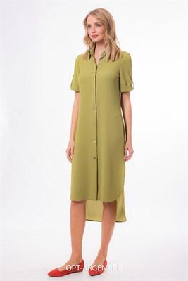 VLD900226/оливковый платье - фото 6623