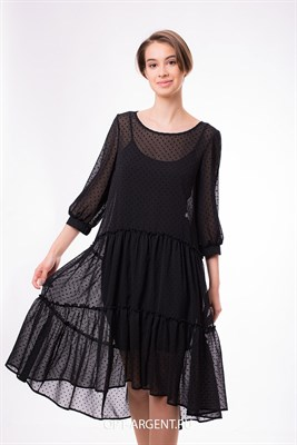 VLD900999/черный платье - фото 6629