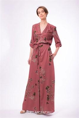 VLD901035/кирпичный платье - фото 6631