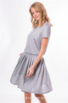 VLD905533/серебряный платье - фото 6639