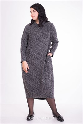 WZD909040/меланж платье - фото 6660