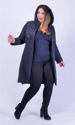 ЕП 1638/черный пальто - фото 6744