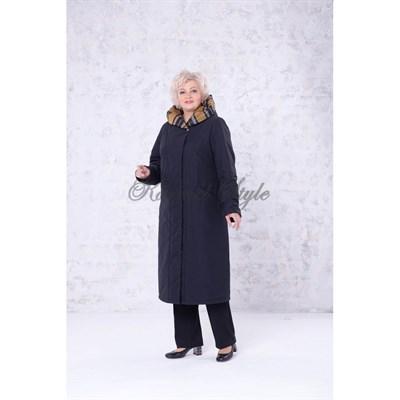Еп 1904 демисезонное пальто жен. цв. черный - фото 6904