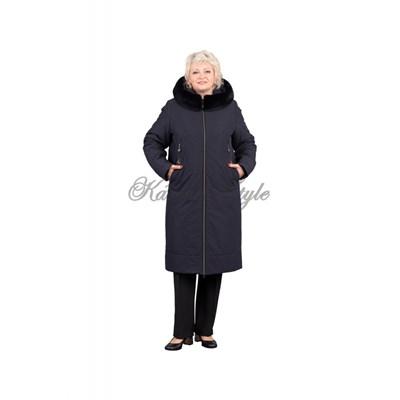УП 617 зимнее пальто синее - фото 7005