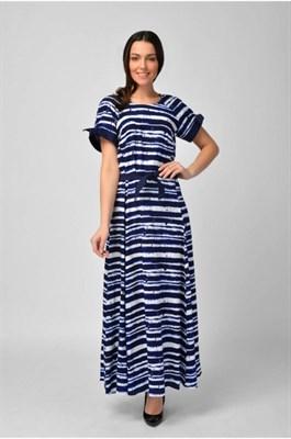 MV 217393 платье сине-бел. полоска - фото 7032