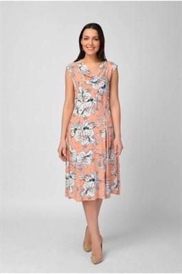 MV 217394 платье бело-розовое - фото 7035