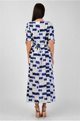 MV 219301 платье сине-белое - фото 7045