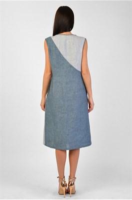 MV 219305 платье Стефани сине-сер. в пол. - фото 7047