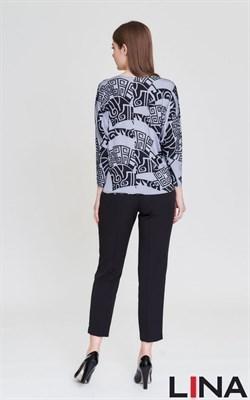 4174 серый блуза - фото 7066